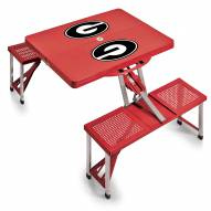 Georgia Bulldogs Red Folding Picnic Table