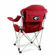 Georgia Bulldogs Red Reclining Camp Chair