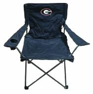 Georgia Bulldogs Rivalry Black Folding Chair