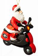 Georgia Bulldogs Santa Scooter Ornament