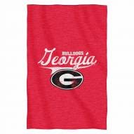 Georgia Bulldogs Script Sweatshirt Throw Blanket