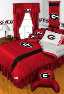Georgia Bulldogs Sidelines Bed Comforter