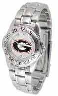Georgia Bulldogs Sport Steel Women's Watch