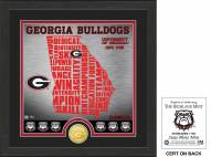 Georgia Bulldogs State Bronze Coin Photo Mint