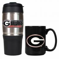 Georgia Bulldogs Travel Tumbler & Coffee Mug Set