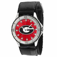 Georgia Bulldogs Veteran Velcro Mens Watch