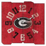 Georgia Bulldogs Vintage Square Clock