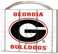 Georgia Bulldogs Weathered Logo Small Plaque