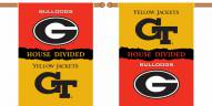 "Georgia / Georgia Tech Premium House Divided 28"" x 40"" Two-Sided Banner"