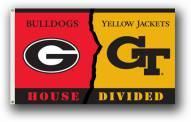 Georgia / Georgia Tech Premium Rivalry House Divided 3' x 5' Flag