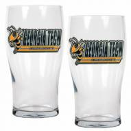 Georgia Tech Yellow Jackets 20 oz. Pub Glass - Set of 2