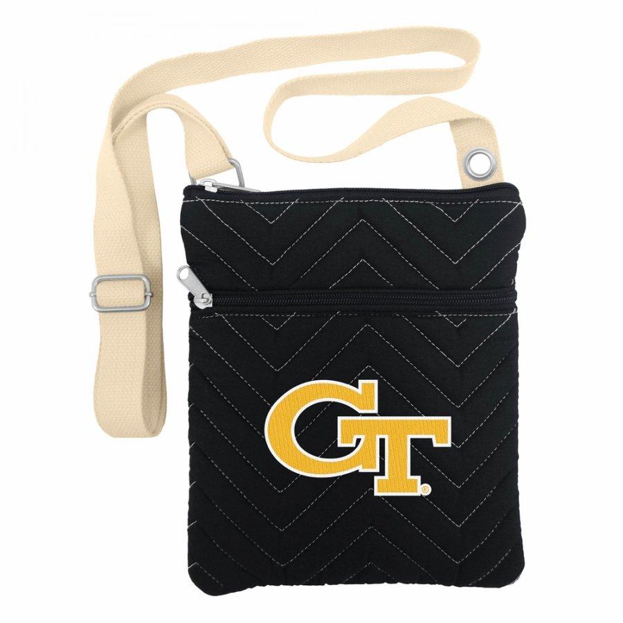 Georgia Tech Yellow Jackets Chevron Stitch Crossbody Bag