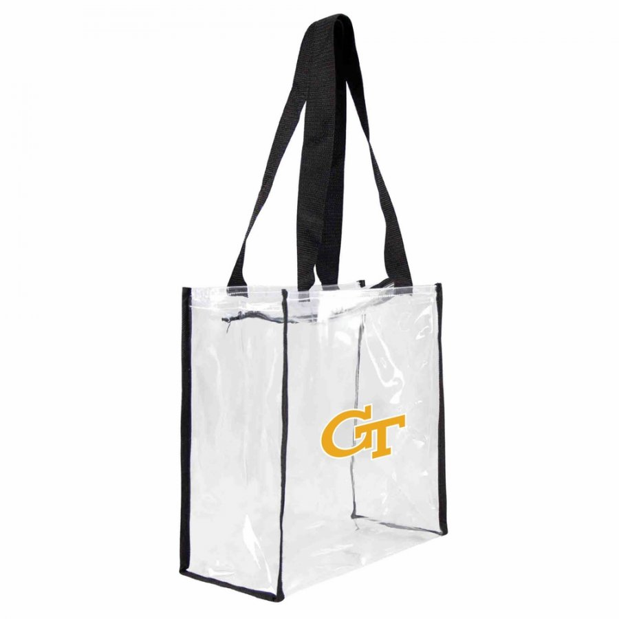 Georgia Tech Yellow Jackets Clear Square Stadium Tote