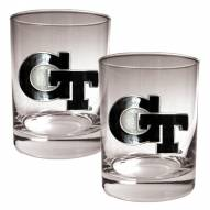 Georgia Tech Yellow Jackets College 2-Piece 14 Oz. Rocks Glass Set