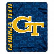 Georgia Tech Yellow Jackets Mark Fleece Blanket