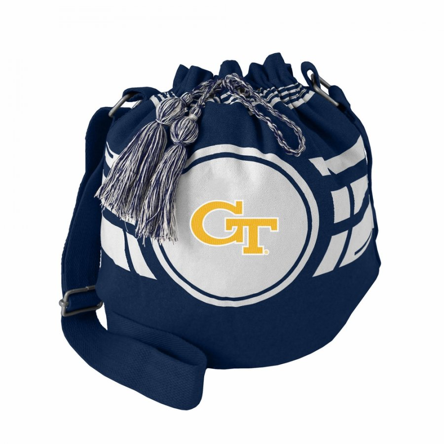 Georgia Tech Yellow Jackets Ripple Drawstring Bucket Bag
