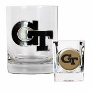 Georgia Tech Yellow Jackets Rocks Glass & Shot Glass Set