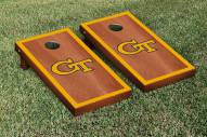 Georgia Tech Yellow Jackets Rosewood Stained Border Cornhole Game Set