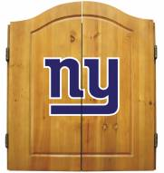 New York Giants NFL Complete Dart Board Cabinet Set (w/darts & flights)