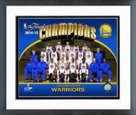 Golden State Warriors 2015 NBA Finals Champions Team Sit Down Photo Framed Photo