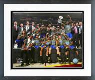 Golden State Warriors Celebrate Winning Game 6 of the 2015 NBA Finals Framed Photo