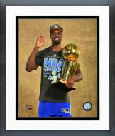 Golden State Warriors Harrison Barnes with the NBA Championship Trophy Framed Photo