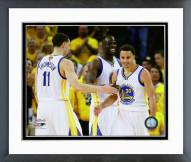 Golden State Warriors Klay Thompson, Draymond Green, & Stephen Curry Framed Photo