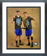 Golden State Warriors Klay Thompson & Steph Curry Championship Trophy Framed Photo