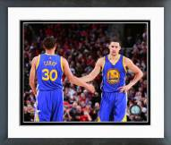 Golden State Warriors Stephen Curry & Klay Thompson 2014-15 Action Framed Photo