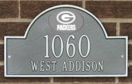 Green Bay Packers NFL Personalized Address Plaque - Pewter Silver