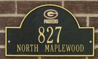 Green Bay Packers NFL Personalized Address Plaque - Black Gold