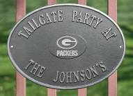 Green Bay Packers NFL Personalized Logo Plaque - Pewter Silver