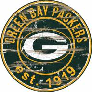 "Green Bay Packers 24"""" Round Wood Sign"
