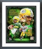 Green Bay Packers Aaron Rodgers 2014 NFL MVP Composite Framed Photo