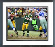 Green Bay Packers Aaron Rodgers 2014 Playoff Action Framed Photo
