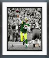Green Bay Packers Aaron Rodgers 2014 Spotlight Action Framed Photo