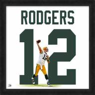 Green Bay Packers Aaron Rodgers Football Uniframe Framed Jersey Photo