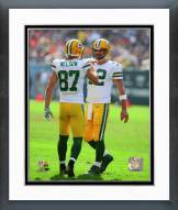 Green Bay Packers Aaron Rodgers & Jordy Nelson 2014 Action Framed Photo
