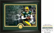 Green Bay Packers Aaron Rodgers Quote Bronze Coin Photo Mint