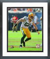 Green Bay Packers A.J. Hawk 2014 Action Framed Photo