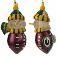 Green Bay Packers All-Star Light Up Snowman Ornament