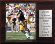 "Green Bay Packers Brett Favre 12"" x 15"" Career Stat Plaque"
