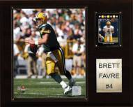 "Green Bay Packers Brett Favre 12 x 15"" Player Plaque"