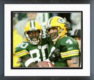 Green Bay Packers Brett Favre & Donald Driver 2004 Action Framed Photo