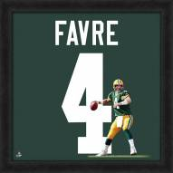 Green Bay Packers Brett Favre Uniframe Framed Jersey Photo