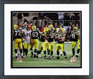 Green Bay Packers Celebrate Winning Super Bowl XLV Framed Photo