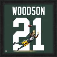 Green Bay Packers Charles Woodson Uniframe Framed Jersey Photo
