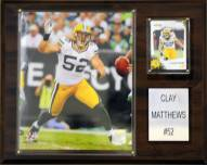 "Green Bay Packers Clay Matthews 12 x 15"" Player Plaque"