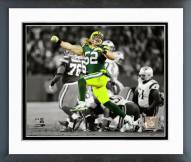 Green Bay Packers Clay Matthews 2014 Spotlight Action Framed Photo
