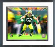 Green Bay Packers Clay Matthews Motion Blast Framed Photo